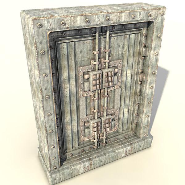 metal door 3d max