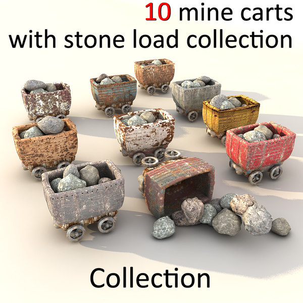 mine cart textured