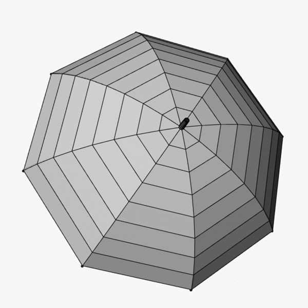 3d umbrella - Umbrella... by mostlysquare