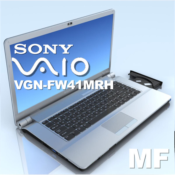 notebook sony vgn-fw41mrh laptop 3d model