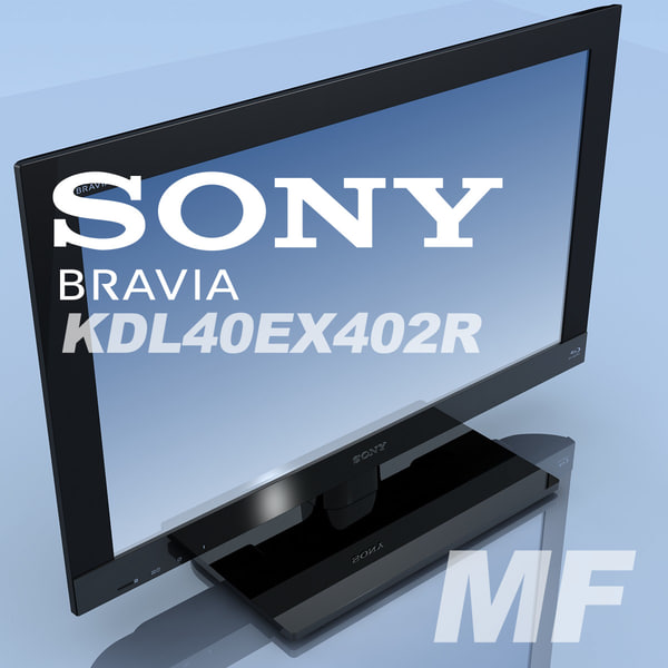 tv sony bravia kdl-40ex402r max - TV SONY Bravia KDL-40EX402R MF... by 3DLocker