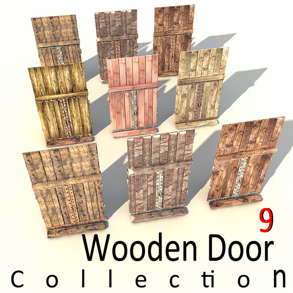 maya wooden door old - old wooden door textured... by Litarvan