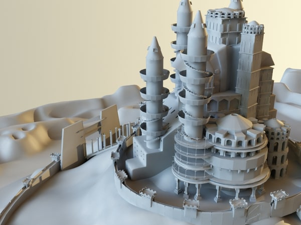3d model landmark castle palace - Castle... by happyyyy