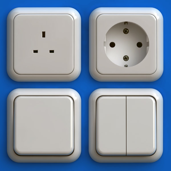 electrical outlets 3d model