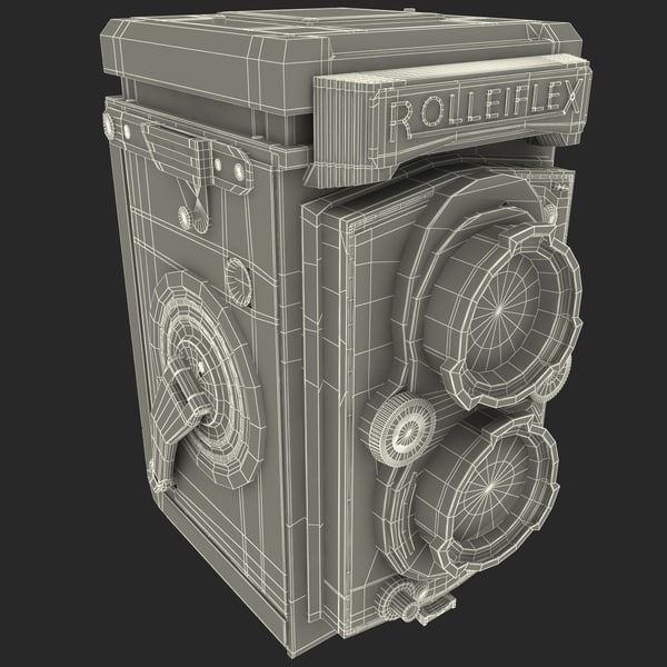 3d xsi antique camera rolleiflex tessar - Antique Camera Rolleiflex Tessar... by 3d_molier