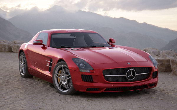 3ds max car mercedes sls amg