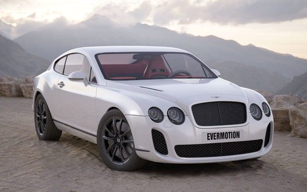 3ds car bentley continental supersports