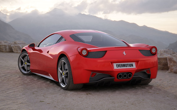 car ferrari 458 italia 3ds - Ferrari 458 Italia... by evermotion