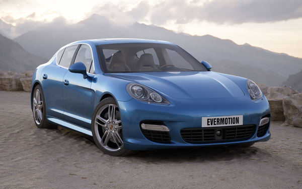 3d model of car porsche panamera - Porsche Panamera... by evermotion