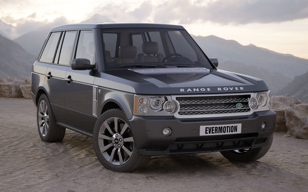 3d model car land rover range