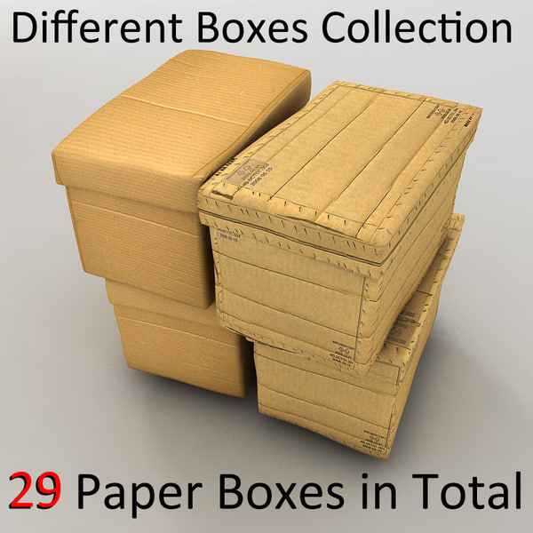 cardboard paper boxes textured