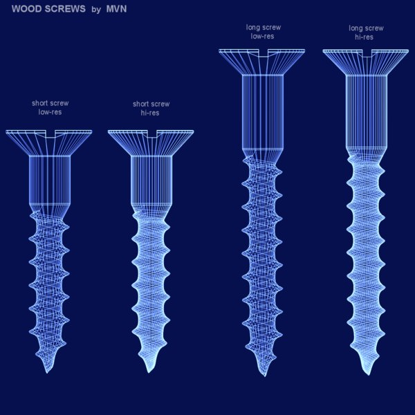 3ds max wood screws - Wood Screws... by mvn