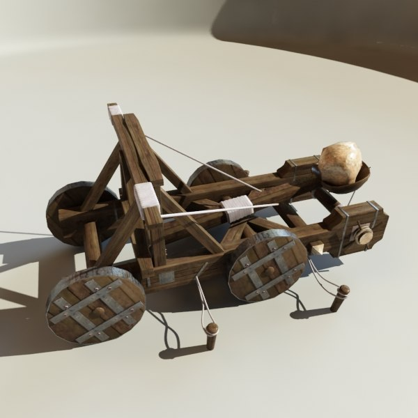 3d catapult model - Catapult Animated A... by happyyyy