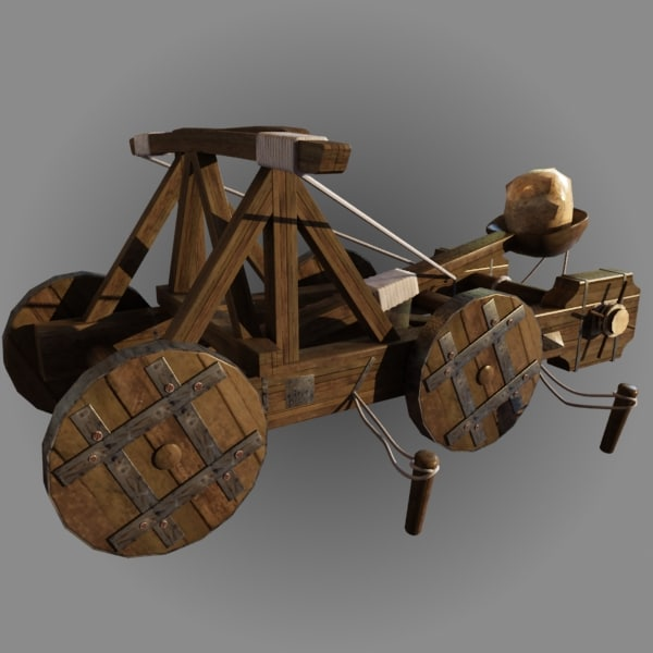 catapult artillery 3d model - Catapult Animate... by happyyyy
