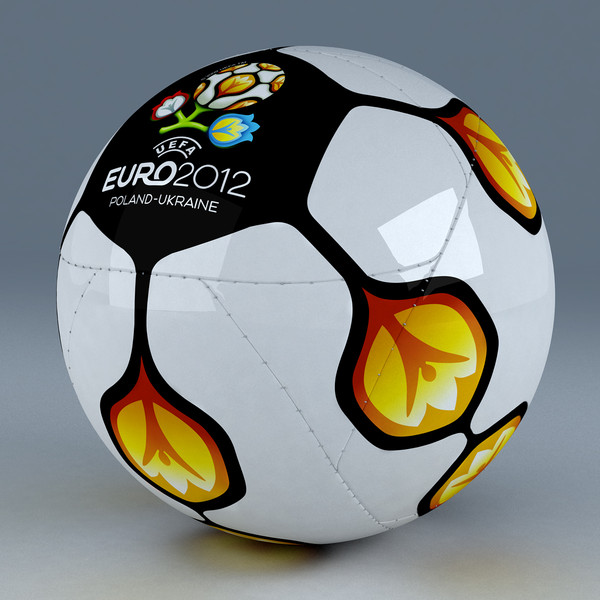 official soccer ball euro 3d model - Euro 2012 Official Soccer Ball... by Scorillo