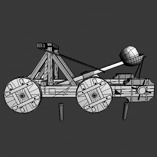 3d catapult model - Catapult Animated C... by happyyyy