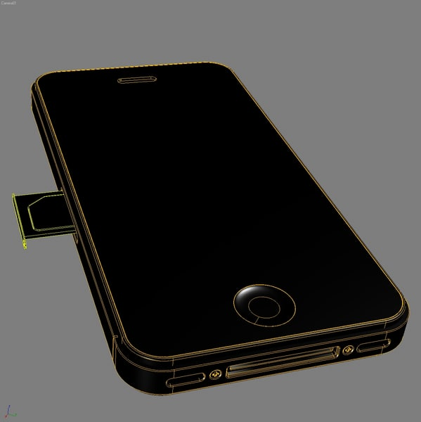 mobile phone apple iphone 3d model - Mobile Phone APPLE IPhone4.MAX... by 3DLocker