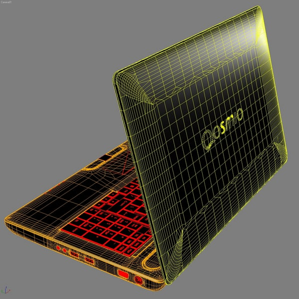 3d model notebook toshiba qosmio x500 - Notebook TOSHIBA Qosmio X500... by 3DLocker