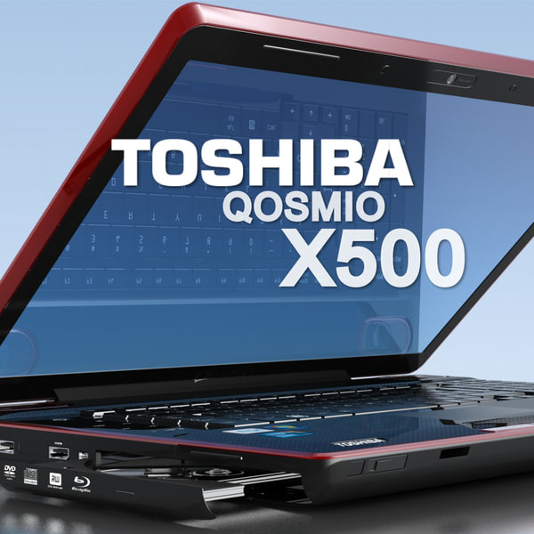 3ds max notebook toshiba qosmio x500