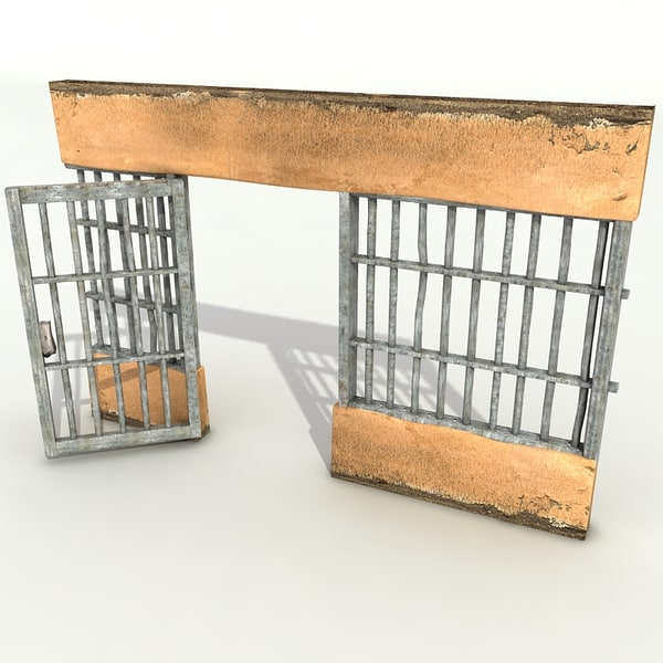 3d model prison door - Prison doors textured collection... by Litarvan