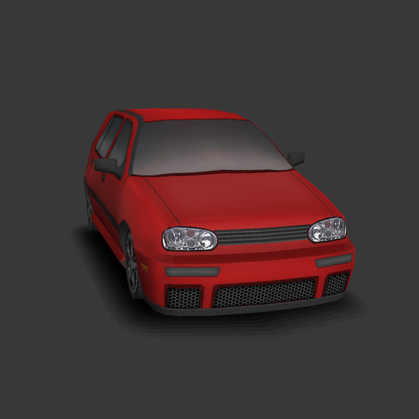 car games 3d model - VW Golf... by Game Art Seller