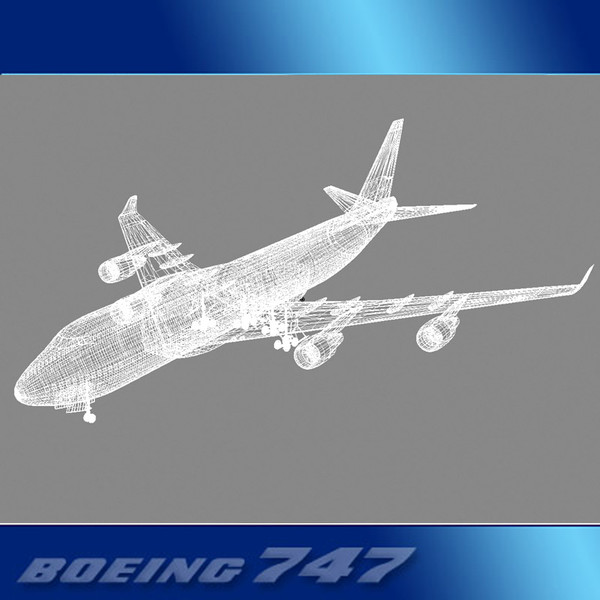 3d model 747-400 airliner northwest 747 jumbo - Boeing 747-400 Airliner (Northwest)... by PerspectX