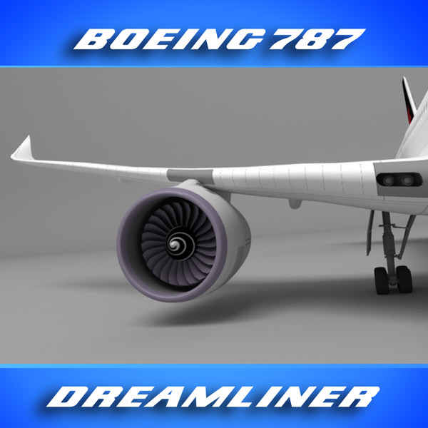 3d 3ds 787 popular freight company - Boeing 787 (FedEX)... by PerspectX