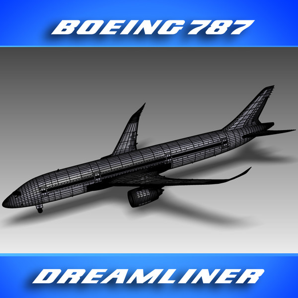 3d 787 dreamliner house colors - Boeing_787 (House Colors)... by PerspectX