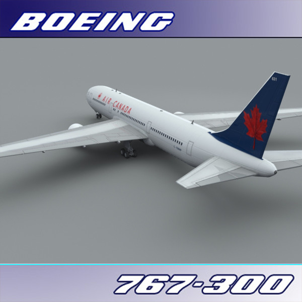 3d model 767-300 air canada - Boeing 767-300 (Air Canada)... by PerspectX