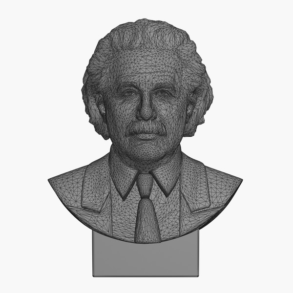 3d decorative bust albert einstein model - Einstein Bust... by clay master