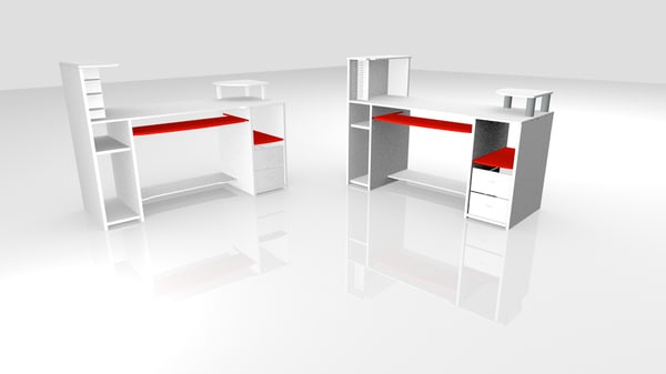 3d model computer office - Computer office-Table 3D Model... by blendmax
