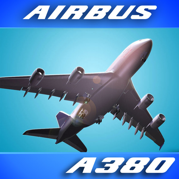 3d airbus a380 virgin airlines - Airbus A380 Airliner (Virgin Airlines)... by PerspectX