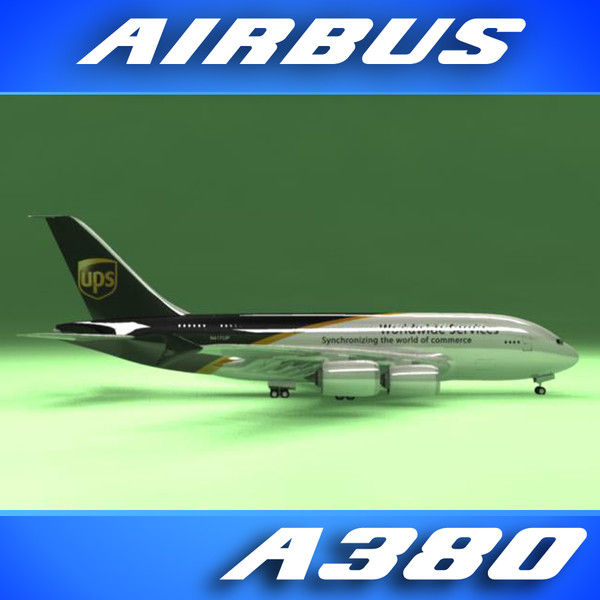 airbus a380 ups airliner 3d model - Airbus A380 Airliner (UPS)... by PerspectX