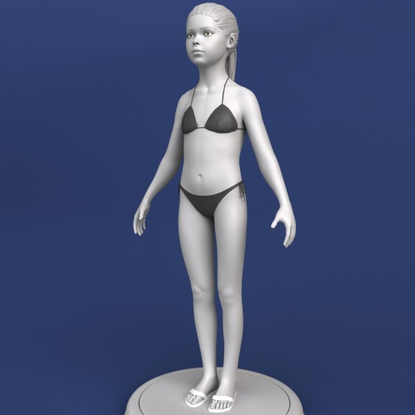 maya little girl - Realistic Little Girl 3d Model... by Bitmapworld