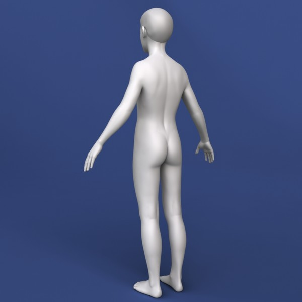 realistic boy modeled 3d model - Realistic Boy 3d Model... by Bitmapworld