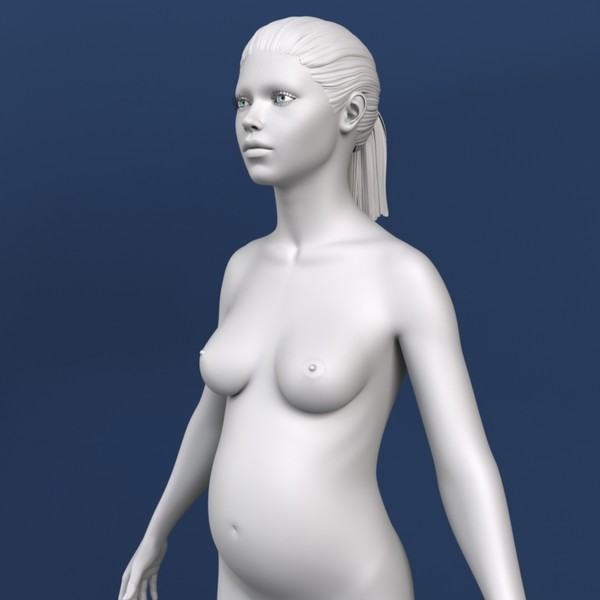 pregnant woman 3d model - Realistic Pregnant Woman 3d Model... by Bitmapworld