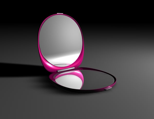 compact mirror 3d model - make up compact mirror... by antjames