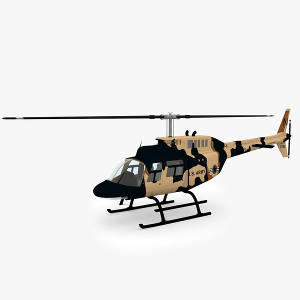 206 Jetranger Military Helicopter Camo