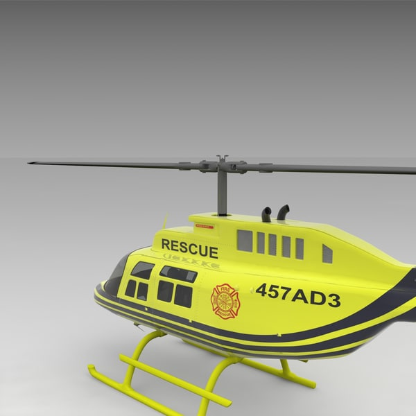 3d model of 206 jetranger helicopters - 206 Jetranger Helicopter Rescue... by AcharyaD