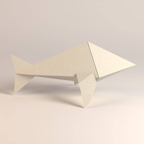 paper whale 3ds - origami animal8... by bescec
