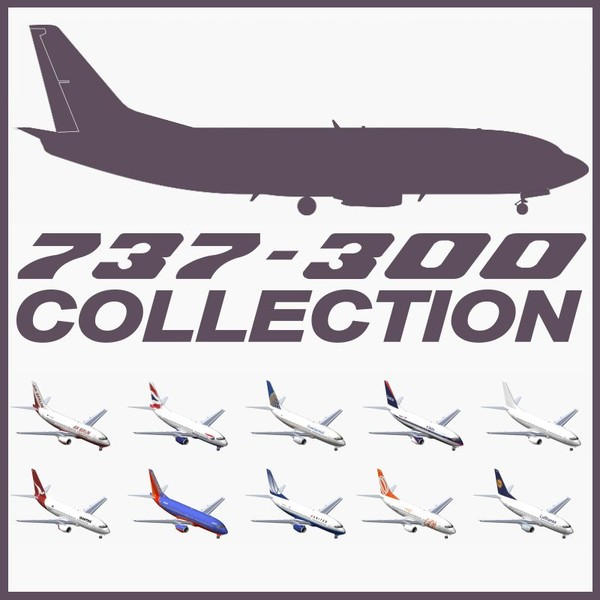 b 737-300 3ds - Boeing 737-300 Collection... by PedroFaut