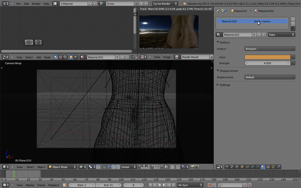 free female bump spec 3d model - female... by japrogramer