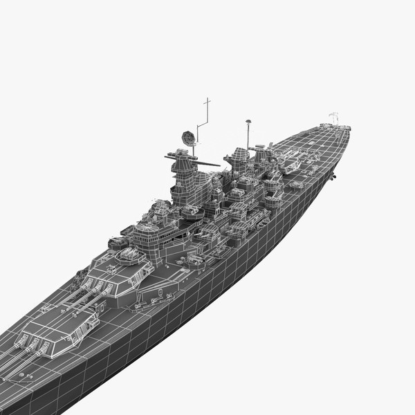 3d model uss bb 63 missouri - USS BB 63 Missouri V2... by 3d_molier