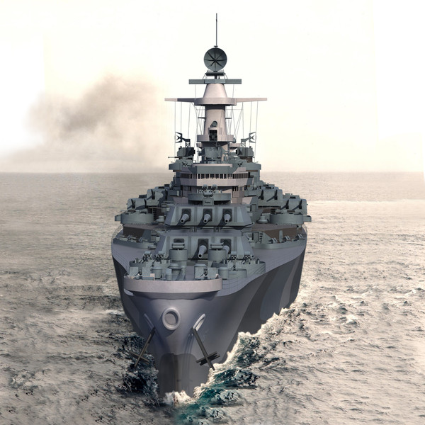 3d model uss bb 63 missouri