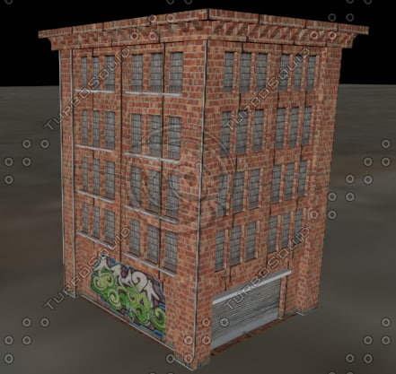 urban building palace 3d 3ds