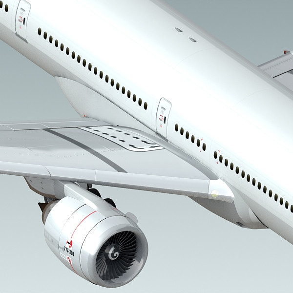 3d model boeing 777-300 generic white - Boeing 777-300 Generic White... by BlueGreen