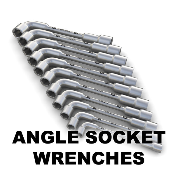 3d model wrenches angle socket - wrenches collection... by ralpatov