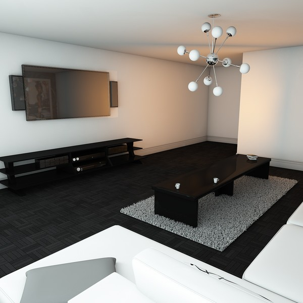 living room 3d model - Elegant Living Room... by KeremGogus
