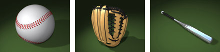 3d model baseball ball 3d: - DOSCH 3D: Baseball... by Dosch Design