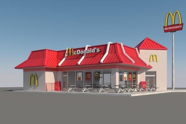 3d mcdonalds restaurant for Restaurant 3d max